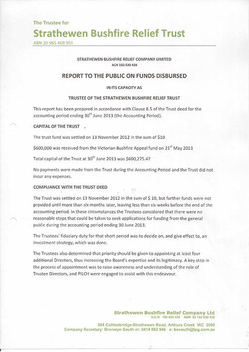 2013 Report to public